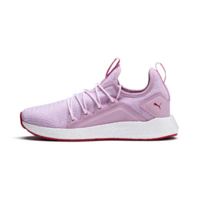 Thumbnail 1 of NRGY Neko Knitted Youth Trainers, Pale Pink-White-Hibiscus, medium