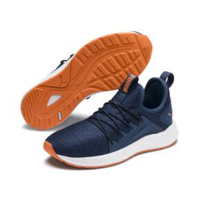 Thumbnail 2 of NRGY Neko Knit Running Shoes JR, G Sea-Peacoat-J Orange-White, medium