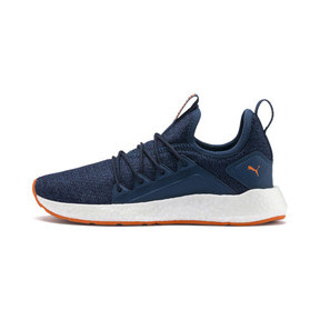 Thumbnail 1 of NRGY Neko Knit Running Shoes JR, G Sea-Peacoat-J Orange-White, medium