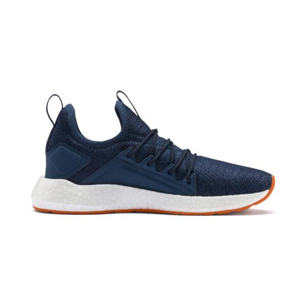 NRGY Neko Knit Running Shoes JR, G Sea-Peacoat-J Orange-White, large
