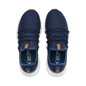 Thumbnail 6 of NRGY Neko Knit Running Shoes JR, G Sea-Peacoat-J Orange-White, medium