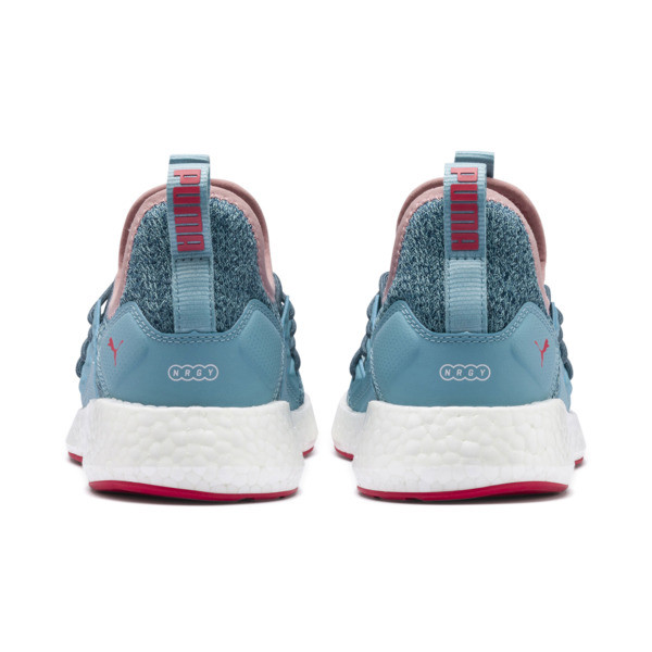 NRGY Neko Knit Running Shoes JR, M Blue-Bluestone-C Coral-Wht, large