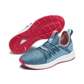 Thumbnail 2 of NRGY Neko Knit Running Shoes JR, M Blue-Bluestone-C Coral-Wht, medium