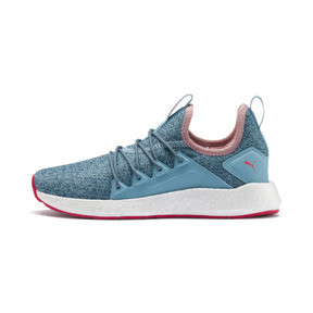 Thumbnail 1 of NRGY Neko Knit Running Shoes JR, M Blue-Bluestone-C Coral-Wht, medium