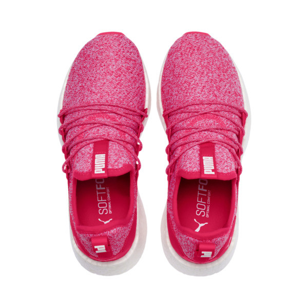 NRGY Neko Knit Running Shoes JR, Nrgy Rose-Puma White, large