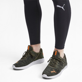 Thumbnail 3 of Ballast Men's Running Shoes, Forest Night-Black-Orange, medium