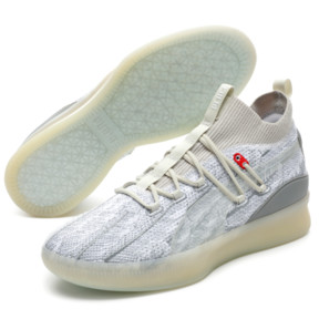 Thumbnail 2 of Clyde Court Peace on Earth Men's Basketball Shoes, Vaporous Gray, medium