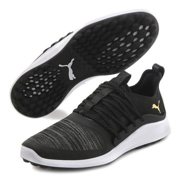 IGNITE NXT SOLELACE Men's Golf Shoes, Black-Gold, large