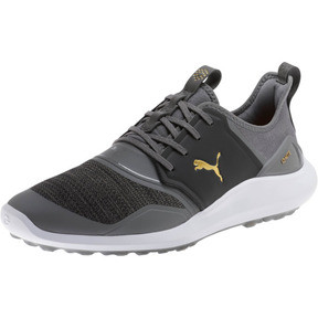 Thumbnail 1 of IGNITE NXT Men's Golf Shoes, QUIET SHADE-Gold-Black, medium