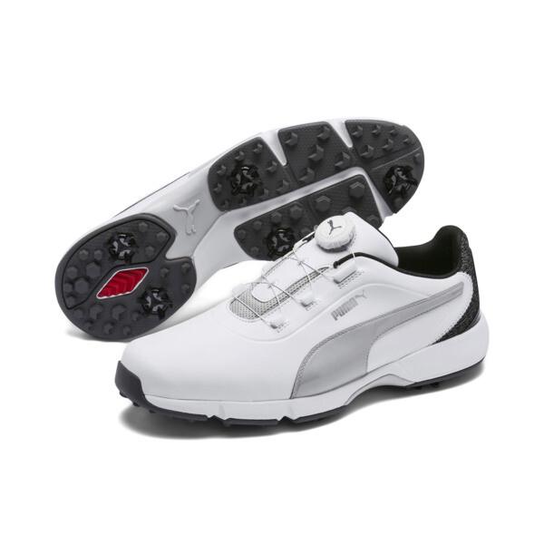 ゴルフ ドライブ フュージョン ディスク スパイクシューズ, White-Gray Violet, large-JPN