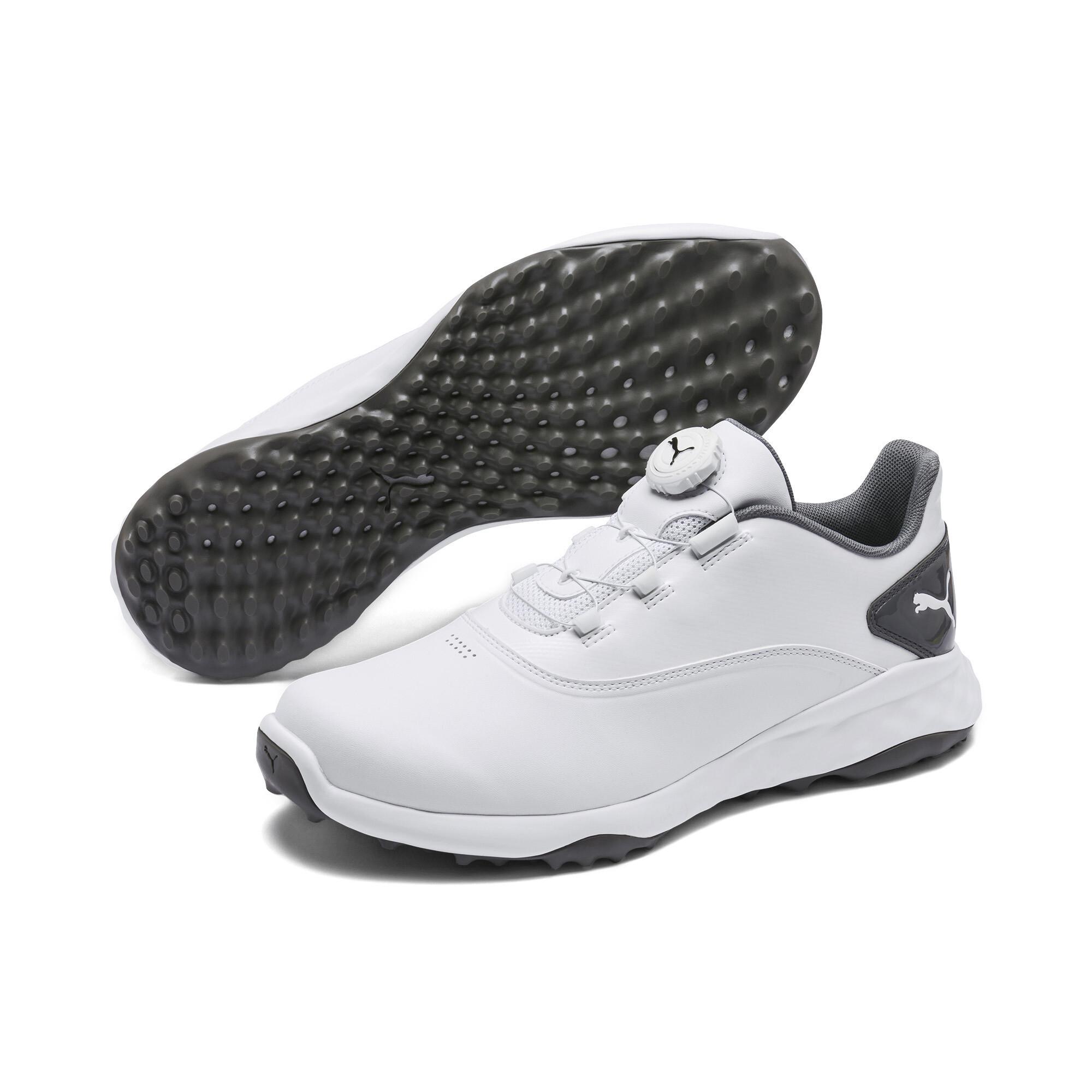 プーマ ゴルフ グリップフュージョン ディスク スパイクレスシューズ メンズ White-QUIET SHADE  PUMA.com
