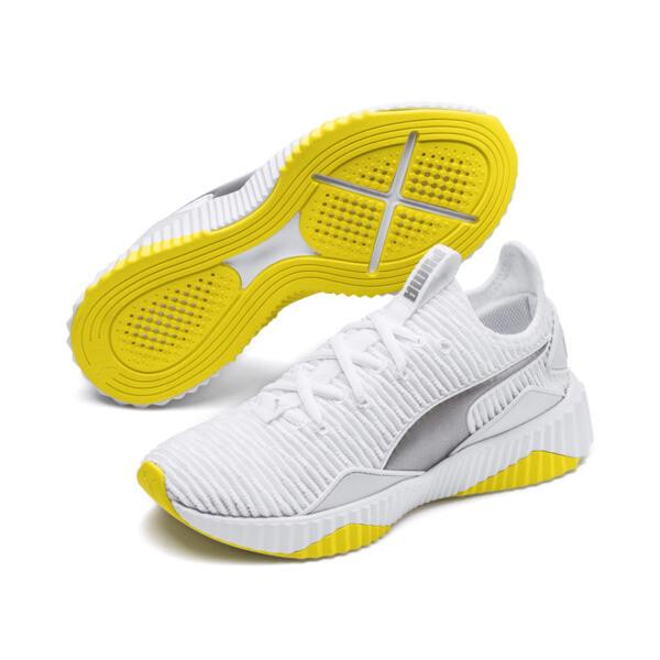 ディファイ TZ ウィメンズ, Puma White-Blazing Yellow, large-JPN