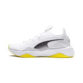 Thumbnail 1 of Defy Trailblazer Women's Training Shoes, Puma White-Blazing Yellow, medium