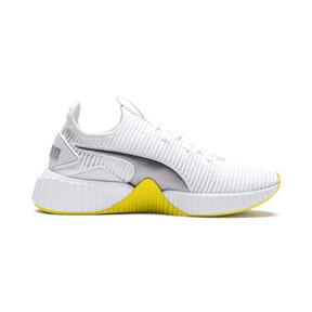Thumbnail 6 of Defy Trailblazer Women's Trainers, Puma White-Blazing Yellow, medium