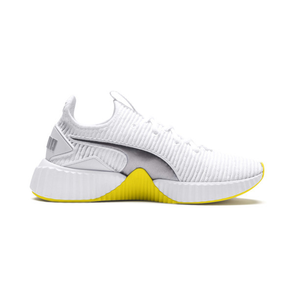 Defy Trailblazer Women's Training Shoes, Puma White-Blazing Yellow, large