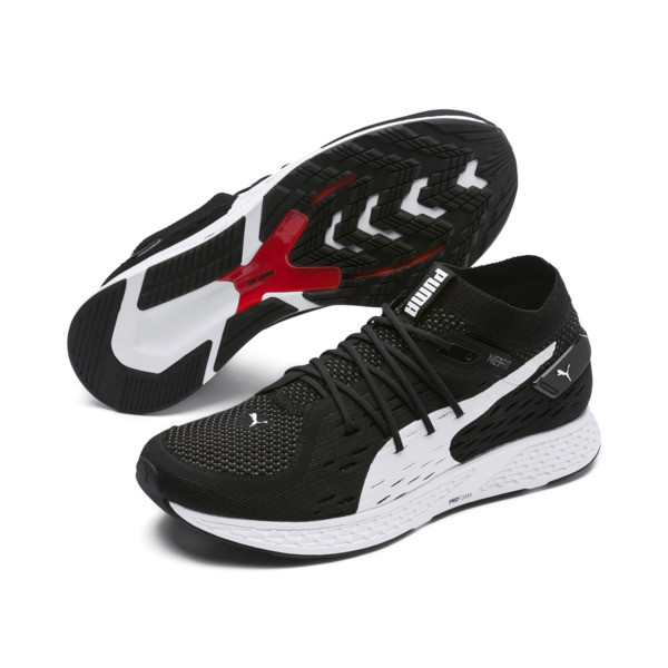 Speed 500 Herren Laufschuhe, Puma Black-Puma White, large