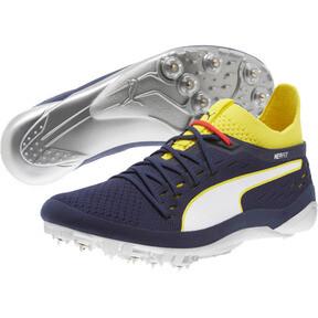 Thumbnail 2 of evoSPEED NETFIT Sprint 2 Men's Track Spikes, Blazing Yellow-Peacoat-White, medium