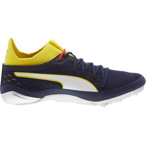 Thumbnail 4 of evoSPEED NETFIT Sprint 2 Men's Track Spikes, Blazing Yellow-Peacoat-White, medium