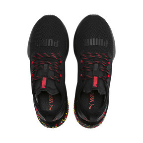 Thumbnail 6 of HYBRID NX Men's Running Shoes, Black-Red-Yellow, medium