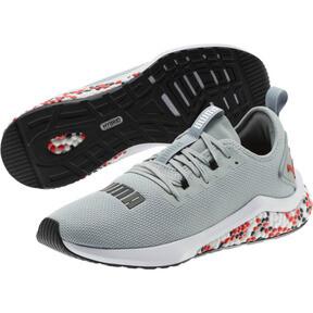 Thumbnail 2 of HYBRID NX Men's Running Shoes, Quarry-High Risk Red-White, medium