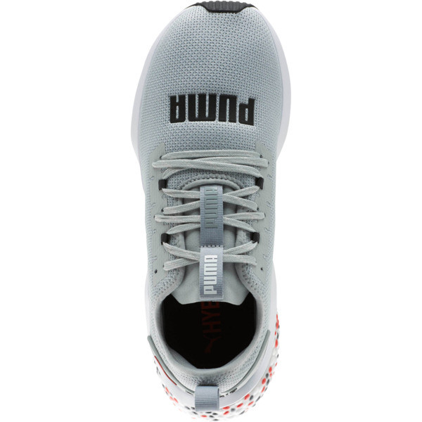 HYBRID NX Men's Running Shoes, Quarry-High Risk Red-White, large