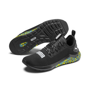 Thumbnail 3 of HYBRID NX Men's Running Shoes, Puma Black-Yellow Alert-Blue, medium