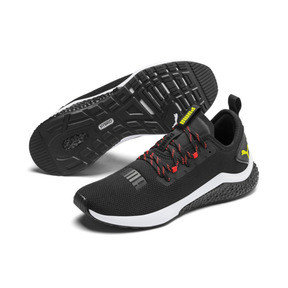 Miniatura 3 de Zapatos para correr HYBRID NX para hombre, Black-Nrgy Red-Yellow Alert, mediano