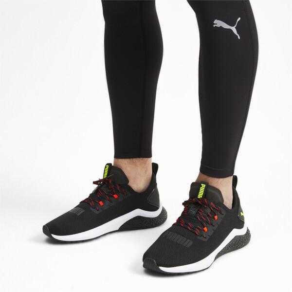 Zapatos para correr HYBRID NX para hombre, Black-Nrgy Red-Yellow Alert, grande