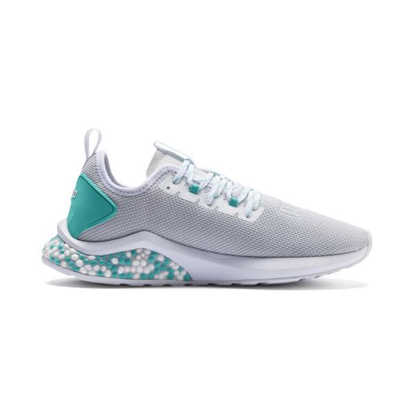 HYBRID NX Men's Running Shoes, Puma White-Blue Turquoise, large