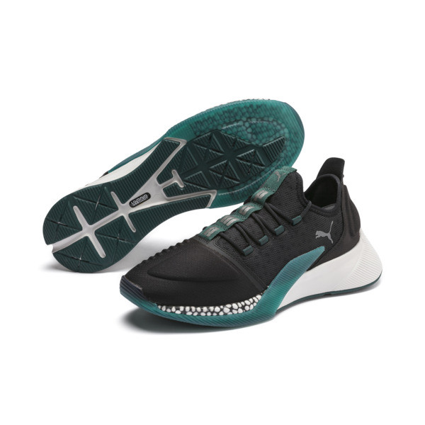 Xcelerator Running Shoes, Black-Glacier Gray-Ponderosa, large