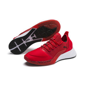 Thumbnail 2 of Xcelerator Running Shoes, High Risk Red-White-Black, medium