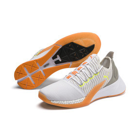 Thumbnail 2 of Xcelerator Daylight Running Shoes, White-VGray-Orange-Yellow, medium