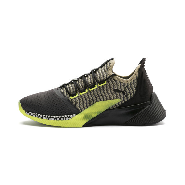 Xcelerator Daylight Running Shoes, Asphalt-Black-Elm-Yellow, large