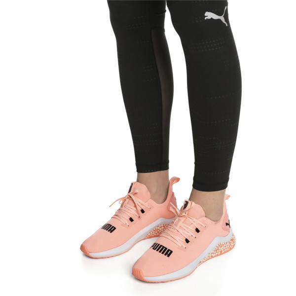 HYBRID NX Women's Running Shoes, Bright Peach-Puma White, large