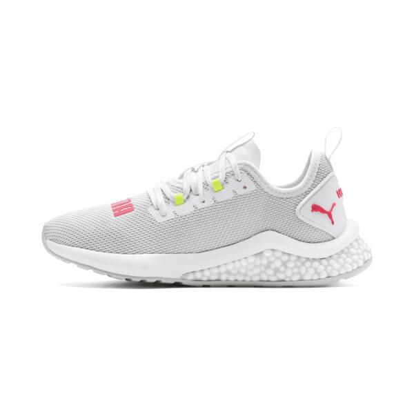 Zapatos para correr HYBRID NX para mujer, Puma White-Pink Alert, grande
