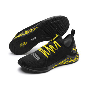Thumbnail 2 of HYBRID NX Caution Men's Running Shoes, Puma Black-Blazing Yellow, medium