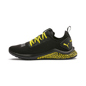 Thumbnail 1 of HYBRID NX Caution Men's Running Shoes, Puma Black-Blazing Yellow, medium