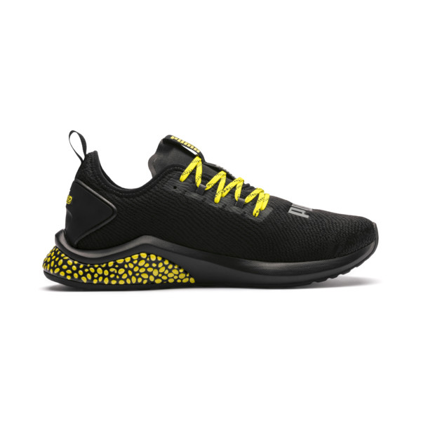HYBRID NX Caution Men's Running Shoes, Puma Black-Blazing Yellow, large