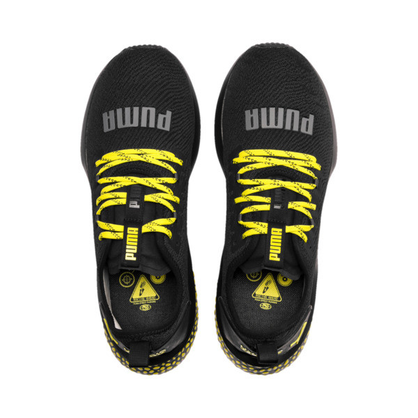 HYBRID NX Caution Men's Running Shoes, Puma Black-Blazing Yellow, large