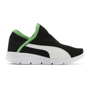 Thumbnail 5 of キッズ プーマ バオ 3 ソック PS 17-21cm, Puma Black-White-Irish Green, medium-JPN