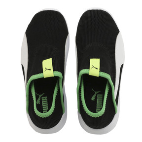 Thumbnail 6 of キッズ プーマ バオ 3 ソック PS 17-21cm, Puma Black-White-Irish Green, medium-JPN
