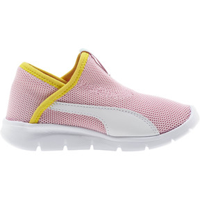 Thumbnail 4 of Puma Bao 3 Sock Shoe Little Kids', Pale Pink-White-Blazi Yellow, medium