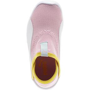 Thumbnail 5 of Puma Bao 3 Sock Shoe Little Kids', Pale Pink-White-Blazi Yellow, medium