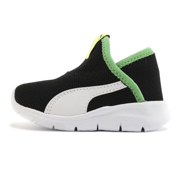 ベビー プーマ バオ 3 ソック (12-16cm), Black-White-Irish Green, large-JPN