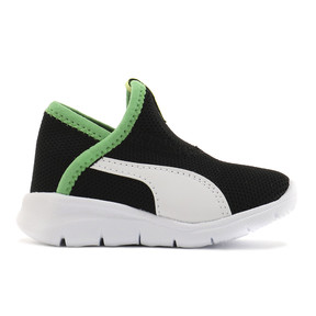 Thumbnail 5 of ベビー プーマ バオ 3 ソック (12-16cm), Black-White-Irish Green, medium-JPN