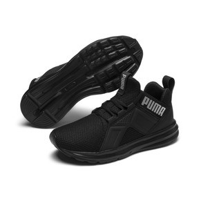 Thumbnail 2 of Enzo Weave Kids' Running Shoes, Puma Black-Puma Silver, medium