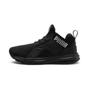 Thumbnail 1 of Enzo Weave Kids' Running Shoes, Puma Black-Puma Silver, medium