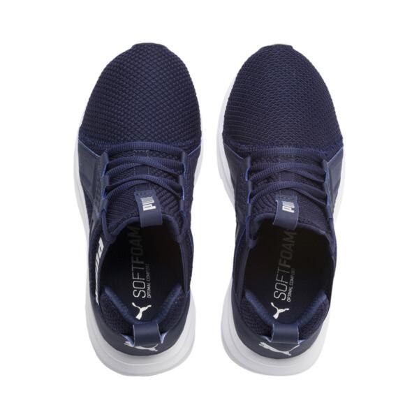 Enzo Weave Sneakers JR, Peacoat- Silver-Puma White, large