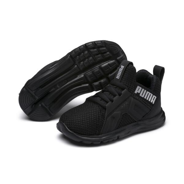 キッズ エンゾ ウィーブ AC PS (17-21cm), Puma Black-Puma Silver, large-JPN