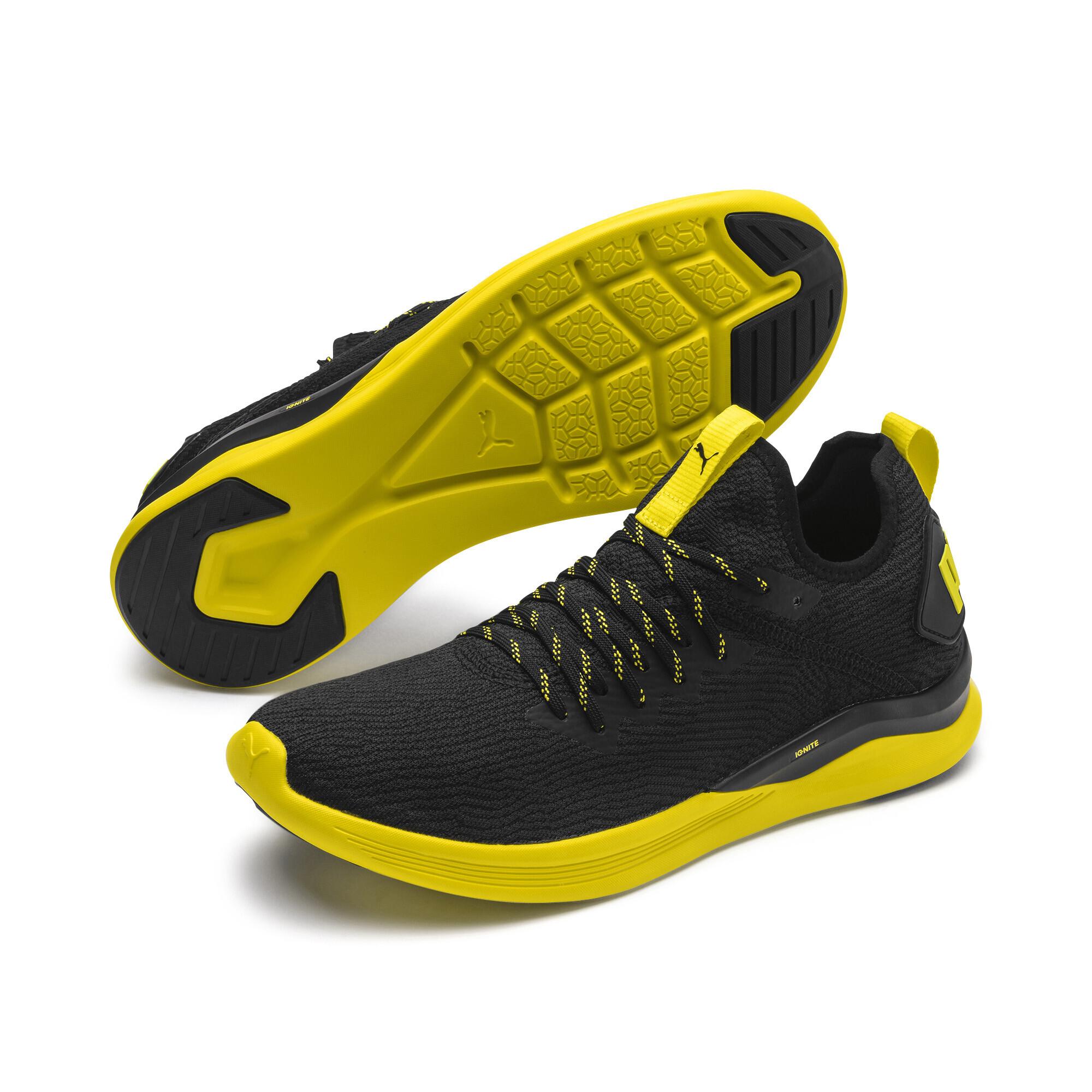 Image Puma Ignite Flash Caution evoKnit Men's Running Shoes #1